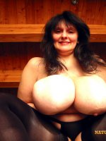 Huge mature natural mature tits
