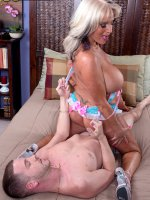 Sally D'Angelo - Blowjob, Cumshot, Mature