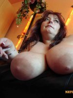 Mature babe with big mature tits