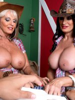 Rita Daniels, Sally D'Angelo - Blowjob, Cumshot, Mature