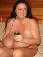 Mature with huge mature tits