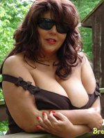 Big titted MILF outdoors