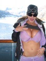Kelly's big tits on a ship in Alaska!