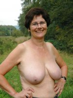 Flashing mature BBWs with big and average breasts