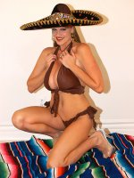 Hola! I've always had a thing for those spicy latin girls. To show my appreciation for them - I decided to throw on a sombrero and tear off my clothes. With each tug of my strings I felt more festive. One string, two string, three sting more...
