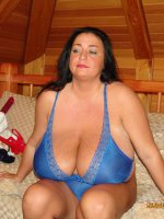 Mature babe with huge mature tits